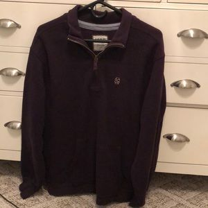 Men's Izod Large Dark purple quarter zip